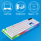 Keyboard Mouse Sets For PS4/PS3/Xbox One And 360 Gaming Rainbow LED White