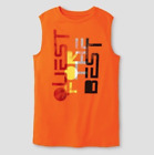 c9 Champion Boys Sleeveless Graphic Orange Tech T-shirt QUEST FOR THE BEST