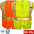 Внешний вид - Safety Work Hi Vis ANSI Class 2 Reflective Tape Neon Lime Vest High Visibility