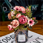 5 Colors Artificial Rose Bouquet Silk Fake Flowers Wedding Party Home Decoration