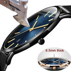 Men Sport Watch Genuine Leather Strap Automatic Wrist Watch Mechanical Watches image