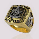 Past Master Masonic Ring 18k Gold Pld Mason Freemason Silver Size by UNIQABLE