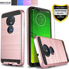 For Motorola Moto G7 Plus Play Optimo Phone Case Cover +Tempered Glass Protector