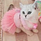 Dog Cat Party Dress Tutu Skirt Kitty Kitten Clothes Wedding for Chihuahua Yorkie