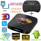 Smart TV Box 4 64G WiFi Lot LCD X10 PLUS 6K H6 Quad Core Player Android Keyboard