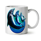 Dolphin Moon Cute Animal NEW White Tea Coffee Mug 11 oz | Wellcoda