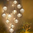 Aluminum Wire Glass Ball Pendant Lighting Iron Ceiling Lamp Chandelier Fixtures $852.19 USD on eBay