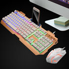 Gaming Keyboard and Mouse Set Rainbow Backlight USB Ergonomic for PC Laptop