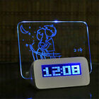 Digital Alarm Clock with LED Luminous Message Board with 4 USB Ports