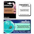 2 x Genuine DURACELL & SONY Silver Oxide Button Cell Watch Batteries [All Sizes]