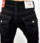 True Religion Men's Black Body Rinse Relaxed Straight Big T Jeans - 102157