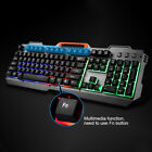 1600DPI Keyboard Mouse SetWhite Silver Backlit USB Wired Gaming Mechanical
