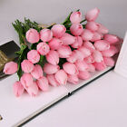 US Artificial Tulips Flower Latex Real Touch Bridal Wedding Bouquet Home Decor