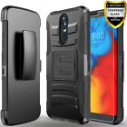 For Coolpad Legacy Phone Case, Belt Clip Cover + Tempered Glass Protector