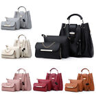 3PCS Women Lady Leather Handbag Shoulder Bag Satchel Messenger Purse Tote Set image