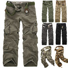 Mens Army Cargo Camo Combat Military Camouflage Work Trousers Casual Shorts Pant