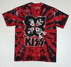 KISS Paul Gene Peter Ace Red Tie-Dye T-Shirt New! (4C4 image