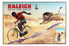 152613 Raleigh Bicycles Vintage Advertising Print Decor Wall Poster Print CA