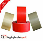 1-10 Cases PVC Packing Tape Pressure Sensitive Adhesive Choose Size & Color