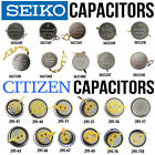 Citizen & Seiko Watch Battery Capacitors Replacement Parts Repair Service - NEW! image