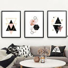 Ju_ Unframed Nordic Geometric Picture Wall Art Craft Painting Home Decoration