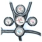 Personalized EKG Heart Stethoscope ID Name Tag Badge 8 Colors for Nurse, Doctor