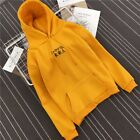Letter Embroidery Long Sleeve Pullover Hoodies for Women/Men Hoodie Sweatshirts