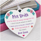 PERSONALISED Female Teacher Assistant Nursery Thank You Heart Plaque Gifts Her