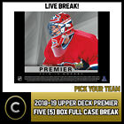 2018-19 UPPER DECK PREMIER HOCKEY 5 BOX FULL CASE BREAK #H388 - PICK YOUR TEAM $20.0 CAD on eBay
