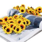 Good 100 heads artificial silk sunflower small heads silk Pretty cloth 4 colors