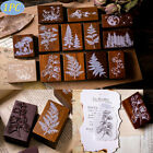 Forest Plants Moon Decor Stamp Wooden Rubber Stamps For Scrapbooking DIY Craft