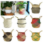Seagrass Belly Baskets Flower Laundry Woven Storage Wicker Basket Bag Home  Hv2n