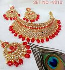 Bollywood Indian Bridal Party Wear Fashion Jewelry Necklace Earring Set