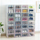 Внешний вид - Wholesale Shoe Boxes Clear Storage Organizer Foldable Stackable Plastic Tidy Box