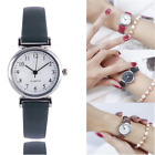 Women's Leather Strap Watches Casual Quartz Analog Round Dial Wrist Watch Gift image