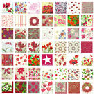 Red floral pattern lunch napkins 4 pack of napkins ideal for decoupage free post