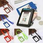 Portable Badge Id Holder Pass Lanyard Card Wallet PU Leather Bus Neck Strap