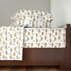 Glitter Crowns And Diamonds Glitter 100% Cotton Sateen Sheet Set by Roostery image