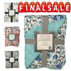 "Regal Home Collections Floral Print Quilt 1PC, 86"" X 86"" image"