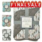 "Regal Home Collections Geometric Print Quilt 1 PC, 86"" X 86"" image"