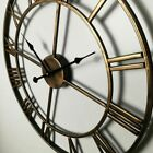 Vintage Large Garden 3D Wall Clock Roman Numerals Iron Clock Home Room Decor New