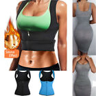 Sweat Women Neoprene Waist Trainer Body Shaper Weight Loss Vest Sport Zipper Top