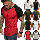 Men's Baseball Short Sleeve T-Shirt Crew Neck CAMO Sports Hipster Jersey Raglan image