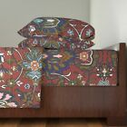Damask Ottoman Turkish Persian 100% Cotton Sateen Sheet Set by Roostery image