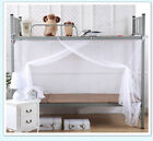 4 Corner Post Bed Canopy Mosquito Net Netting Bedding White King Queen Dormitory image