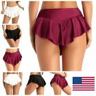Внешний вид - US-Women's Sexy Dance Dress Ice Skating Mini Skirts Gymnastic Exercise Costumes