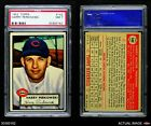 1952 Topps #142 Harry Perkowski Cream Back Reds PSA 7 - NM