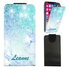 "Personalised NAME Marble PU Leather Flip Case Cover For Oukitel K4000 Lite (5"")"