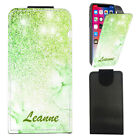 """Personalised NAME Marble PU Leather Flip Case Cover For Oukitel K4000 Pro (5"""")"""