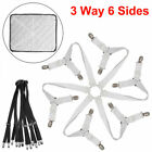 3-Way 6 Sides Crisscross Bed Fitted Sheet Straps Suspender Gripper Fastener Clip image